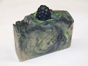 Blackberry Poppy Seed Goat Milk Soap-Palm Free, Organic & Natural by MJR Soaps