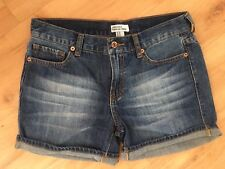 Ladies FOREVER NEW Denim Shorts Size 10 Faded Blue