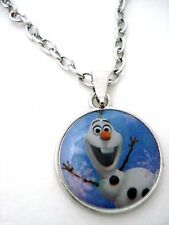 Disney Frozen Olaf Oval Pendant Necklace Anna & Elsa Snowman Best Friend NWT