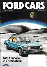 1980 Ford UK brochure: Ford Fiesta, Escort/RS, Cortina, Capri, Granada Mk.2