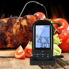 Digital LCD Wireless Remote Kitchen Oven Food Cooking Meat BBQ Thermometer Probe