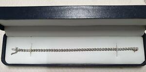 9ct 375 DIA White Gold 0.25ct Diamond Tennis Bracelet