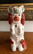 STAFFORDSHIRE SPANIEL Begging Dog Toby Jug Pitcher Vase Cavalier King Charles