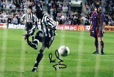 Signed Faustino Asprilla Newcastle United v Barcelona Autograph photo proof (2)