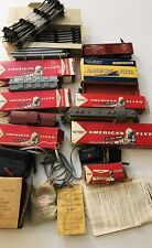 Vtg 1950's Gilbert American Flyer 3/16 Train Locomotive Lot Track Engine Cars
