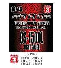 Fernandes Gs-1500l Electric Guitar Strings Light Gauge 3 Sets