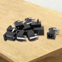 10pcs 3 Pin PCB Mount 5.5x2.1mm Female DC Power Jack Socket Connector K6X5