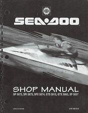 1995 SeaDoo SP SPI SPX GTS GTX XP Bombardier Shop Service Repair Manual 95 on CD