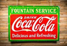 Original 1933 Coca Cola Fountain Service Porcelain Sign