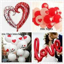 Valentine Balloons Foil Latex Shapes Hearts Helium I Love You Engagement Wedding