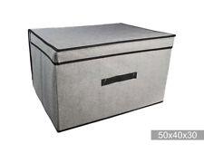 Box in tessuto salvaspazio organizer per vestiti 50x40x30 cm
