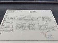 Mercedes W108 A  1965  Konstruktionszeichnung/ Blueprint.