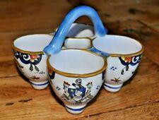 Antique French DESVRES Faience Condiment St Gilles Croix de Vie