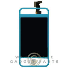 LCD Digitizer Frame Assembly for Apple iPhone 4 GSM Transparent/Blue Display