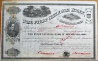 First National Bank of New Milford, CT Connecticut 1887 Stock Certificate - Conn