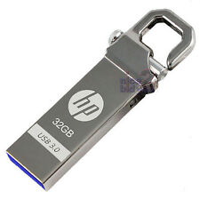 HP 32GB x750w USB 3.0 Flash Drive Memory Stick Key Thumb Disk Hook Lock Metal