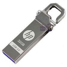 HP 32 GB x750w USB 3.0 Flash Drive Memory Stick Pollice Chiave Serratura Gancio del disco in metallo