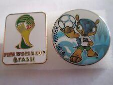 b4 lotto 2 spille BRASIL 2014 FIFA WORLD CUP football calcio pins lot 14