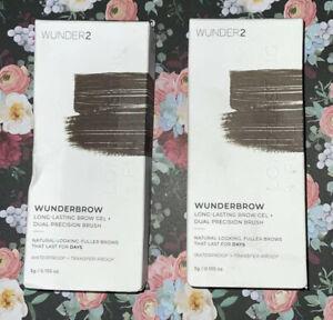 WunderBrow Wunder2 Black/Brown Perfect Eyebrows Brow Gel Eye Makeup Lot Of 2
