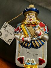 "Polonaise Kurt Adler Alice in Wonderland ""King of Hearts"" Ornament"