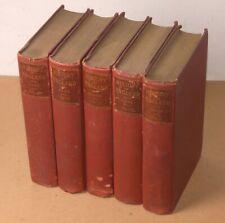 1900's HISTORY OF ENGLAND 5 volume set DAVID HUME Esq. classic books