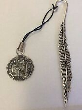 Constantine Coin WC26 Made From Fine English Pewter On A FEATHER Bookmark