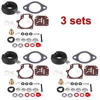 3x Carburetor Rebuild Repair Kit For OMC Johnson Evinrude 392061 396701 398729