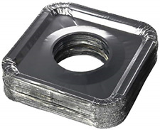 Aluminum Foil Square Gas Stove Burner Covers � Pack of 100 � Disposable Bib for