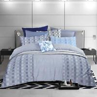 Luxury Soft Touch Modern Check Stripe Soft Touch Quilt Duvet Cover Bedding Set