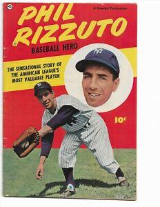 PHIL RIZZUTO BASEBALL HERO - #nn - F+ 6.5 - FAWCETT - NEW YORK YANKEES (1951)