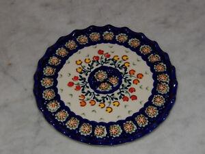 Polish Pottery Trivet! UNIKAT Signature Lucy Pattern!