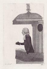 JOHN KAY original antique Gravure. Rev. Dr James Peddie, de l'associa..., 1791
