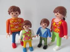 Playmobil DOLLSHOUSE Family figures: MAMAN, PAPA et enfants avec Cheveux bruns NEUF
