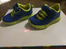 Size 3 Boys Toddler Shoes Neon Green And Bright Blue