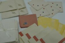Vintage Mixed Lot - Some Hand Stitched Hand Towels/Napkins/Placemats Decor