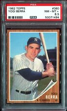 1962 Topps #360 *YOGI BERRA*  PSA 8.5! pop = 4! 35x rarer vs PSA 8! Tough Yankee