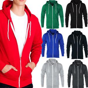 AARHON MENS BOYS Hoody Sweatshirt Plain American Hooded Fleece Zip Up Jacket5062