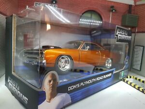 1:24 Fast And Furious Dom 'S Plymouth Route Chemin Tokyo Dérivateur 1970 Bnib