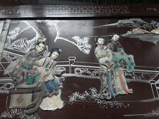 More details for large antique chinese chest 19th century mother of pearl