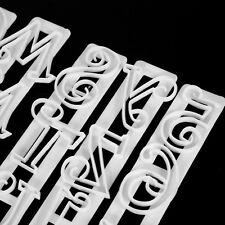 6Pc Alphabet & Number Letter Cake Fondant Decorating Set Icing Cutter Mold