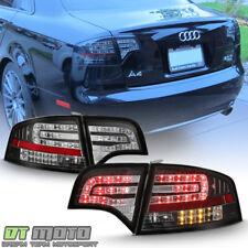 Blk 2005-2008 Audi A4/S4/RS4 B7 Sedan Lumileds LED Tail Lights Lamps Left+Right