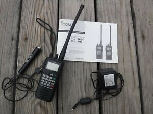 ICOM IC A6 Aircraft Handheld Aviation Transceiver Radio & Charger & Manual WORKS