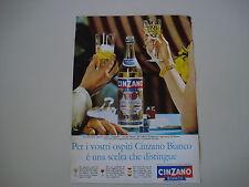 advertising Pubblicità 1963 CINZANO BIANCO