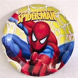 Spiderman Party Plate - 8 pack 23cm - Spiderman Party Supplies