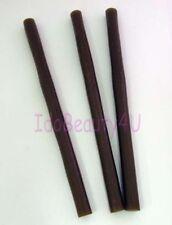 3 sticks Keratin Hair Glue Hair Extensions professional Brown 10mm x 18cm long