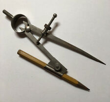 Vintage Drawing Compass With 5H British Graphite Pencil Drafting Metal Tool