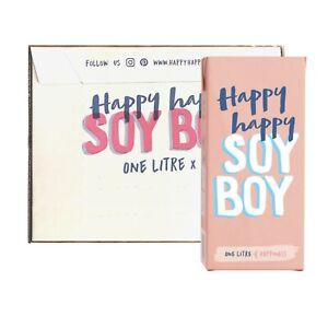 6x1L Happy Happy Soy Boy - Soy Milk Long Life Café Quality Premium Barista Milk