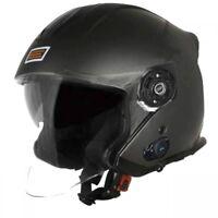 Casque Helmet Helm Jet Avec Bluetooth ORIGINE Palio Titane Mat Taille L