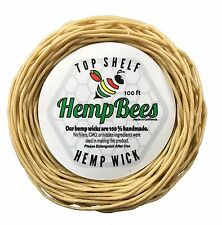 Organic HempBee Hemp Wick Line  100 FT-1 mm -BUY TWO GET ONE FREE - HB hempwick