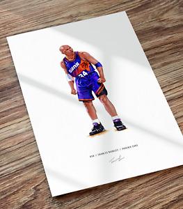 Charles Barkley Phoenix Suns Basketball Illustrated Print Poster Art